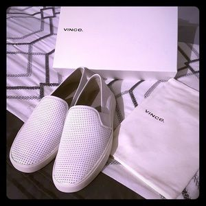 Vince Blair Perforated Leather Shoes